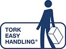 Tork Easy Handling - produkt w poręcznym opakowaniu, łatwy w przenoszeniu