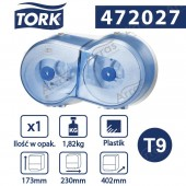 Tork SmartOne Twin mini toilet Roll dispenser blue-22631